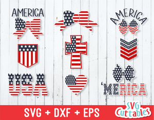 Fourth of July SVG, set of 9