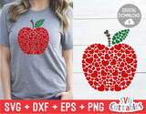 Apple with Hearts | Valentine's Day svg Cut File