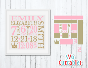 Baby Birth Announcement Princess