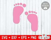 Baby feet svg, Baby foot prints svg