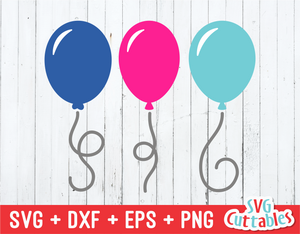 Balloons  | SVG Cut File