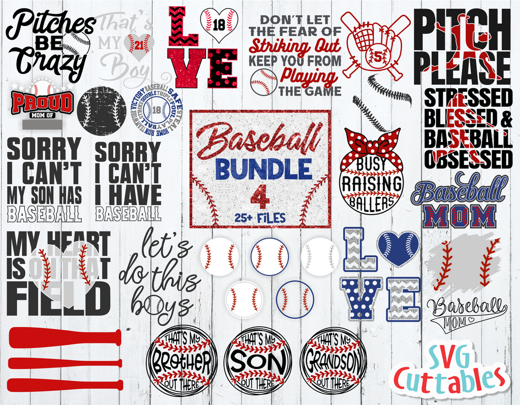 Baseball Bundle 4 | SVG Cut File
