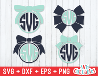 Bow Monogram Frame, Cheer Bow Monogram