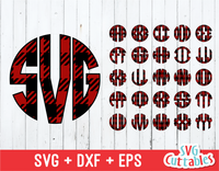 Buffalo plaid circle monogram font, plaid font, Circle Alphabet