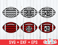 Chevron Football, Football Monogram Frame