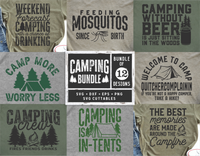 Camping Bundle 1  | SVG Cut File