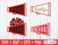 Cheer Megaphones, svg Cut Files