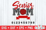 Cheer Senior Mom Pom Pom | SVG Cut File