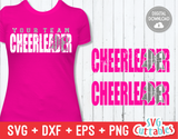 Cheerleader Distressed | SVG Cut File
