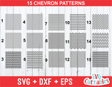 Chevron set of 15 patterns