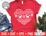 Christmas Sweater Heart | Christmas Cut File