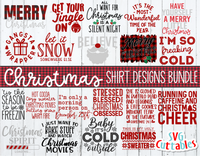 Christmas Shirt Designs Bundle  | Cut Files
