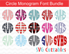 Circle Monogram Font Bundle