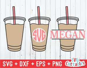 Coffee Drinks | Monogram Frames | SVG Cut File