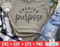 Created With A Purpose  |  SVG Cut File
