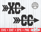 Cross Country Symbols  | SVG Cut File