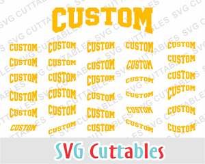 Custom Layouts Sporty tee font