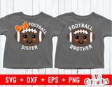 Football Sister | Football Brother | SVG Cut File