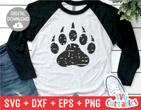 Distressed Bear Paw Print