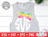 Distressed Bow | Monogram Frame | SVG Cut File