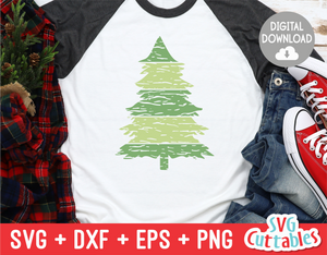Distressed Christmas Tree  | Cut File