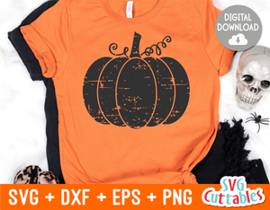 Distressed Pumpkin |  SVG Cut File