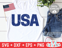Distressed USA | Fourth of July | SVG Cut File