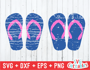 Distressed Flip Flop | Summer | SVG Cut File