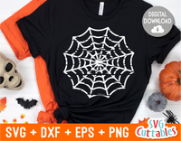Distressed Spider Web| Halloween SVG Cut File