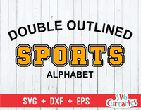 Double Outlined Sport Alphabet