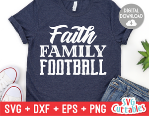 Faith Family Football  | Football Cut File