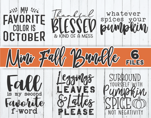 Fall Mini Bundle | Fall SVG Cut Files