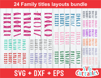 Family Titles Layouts Bundle