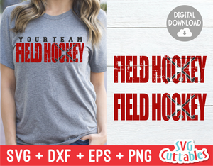 Field Hockey Distressed | SVG Cut File
