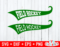 Field Hockey Text Tails