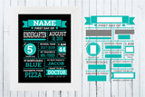 First Day of School, Last Day of School, Chalkboard Design Bundle