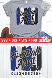 Football Aunt Paint Strokes SVG Cut File