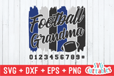 Football Grandma Paint Strokes SVG Cut File