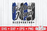 Football Nana Paint Strokes SVG Cut File