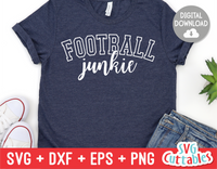 Football Junkie | Football Cut File