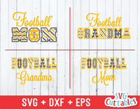 Football Mom Pattern, Football Grandma