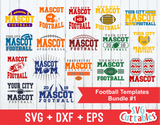 Football svg Template Bundle #1