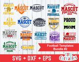 Football svg Template Bundle #2