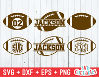 Football Monogram Frames  | Football Cut File