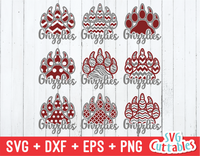 Grizzlies Patterned Paw Prints