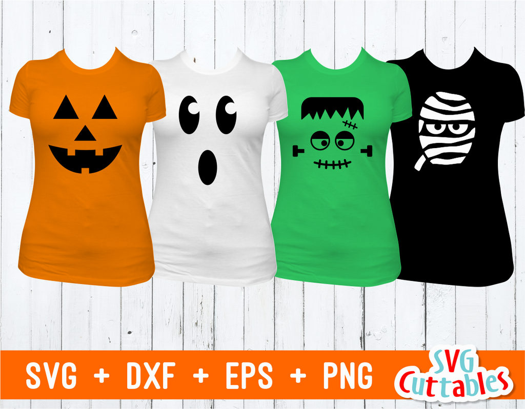 Halloween Faces | SVG Cut File