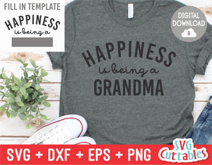 Happiness Is Being A | Template svg Cut File