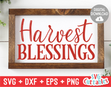 Harvest Blessings | Autumn | Fall Cut File