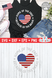 Home of the Free  |  Fourth of July  SVG Cut File