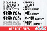JP Game Day Font